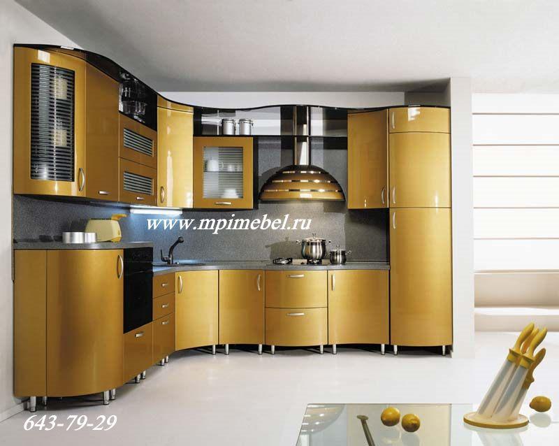 Кухни золотого цвета фото