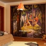 Детский шкаф купе фреска