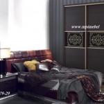 Черный шкаф купеСпальня