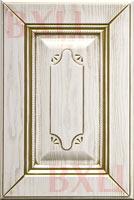 Элегия белый  текстурный золотая патина