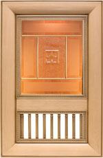 Фасад Ника  с колонками под стекло