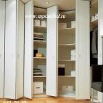 Угловой шкаф  Двери  гармошка