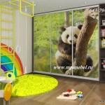 Детский шкаф купе Панда фотопечать