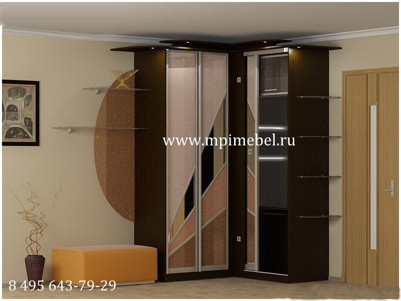 угловой шкаф в маленькую прихожую Mpi мебель