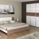 Белая встроенная мебель в спальню. Дизайн и изготовление в Москве