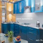 Кухня гнутые фасады