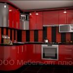 Кухня Модерн красная