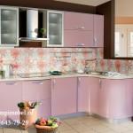 Кухня  глянец розовая