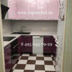 Кухня бордовый низ